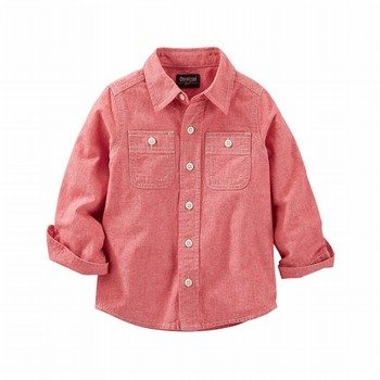 OshKosh 2-Pocket Chambray Button-Front Shirt