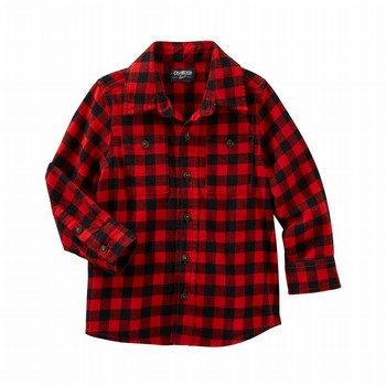 OshKosh Buffalo Check Button-Front Shirt
