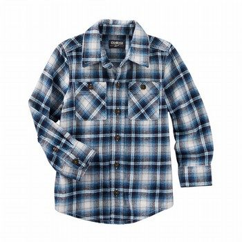 OshKosh 2-Pocket Plaid Button-Front Shirt