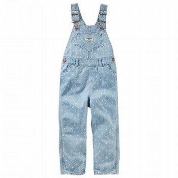 OshKosh Dot Print Denim Overalls