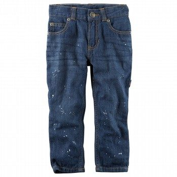Carter's 5-Pocket Straight-Fit Splatter Paint Carpenter Jeans