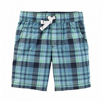Carter's Easy Pull-On Plaid Shorts