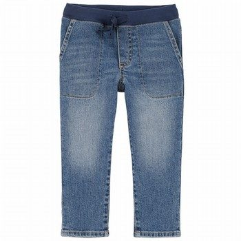 Carter's Pull-On Slub Straight-Fit Jeans