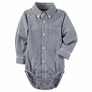 Carter's Gingham Button-Front Bodysuit