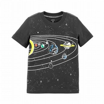 Carter's Glow-In-The-Dark Solar System Textured Tee