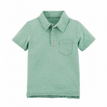 Carter's Garment-Dyed Slub Jersey Polo