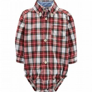 Carter's Plaid Button-Front Bodysuit