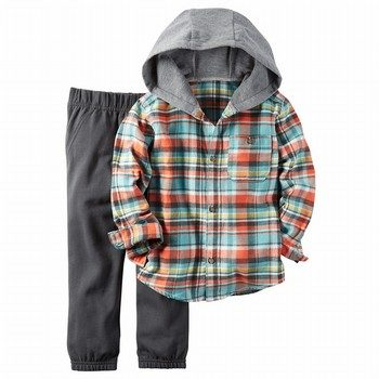Carter's 2PC Flannel Hoody & Pant Set