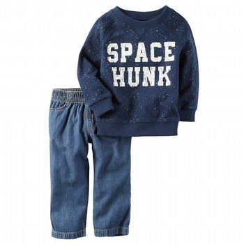 Carter's 2PC French Terry Pullover & Denim Pant Set