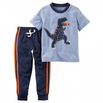 Carter's 2PC Dinosaur Graphic Tee & French Terry Jogger Set