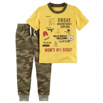 Carter's 2PC Explorer Graphic Tee & Camo Jogger Set