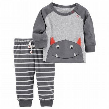 Carter's 2PC L/S Monster Top & Joggers Set
