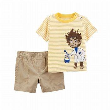 Carter's 2PC Jersey Tee & Canvas Short Set