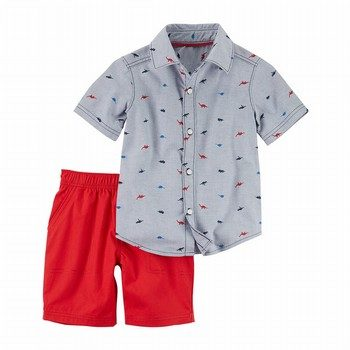 Carter's 2PC Button-Front Top & Short Set