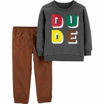 Carter's 2PC Dude French Terry Top & Pant Set