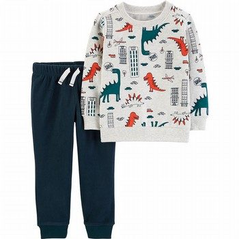 Carter's 2PC Dinosaur Fleece Pullover & Jogger Set