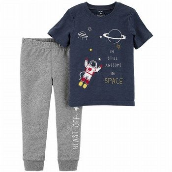 Carter's 2PC Space Tee & French Terry Jogger Set