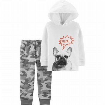 Carter's 2PC French Bulldog Hoodie & Camo Jogger Set