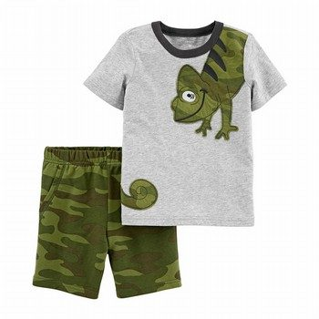 Carter's 2PC Chameleon Jersey Tee & Camo Short Set