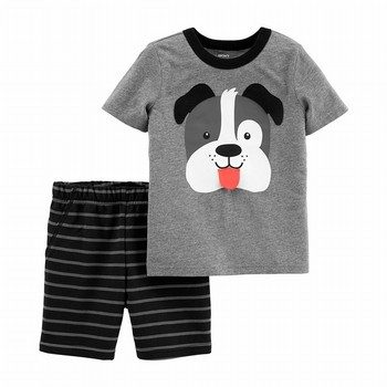 Carter's 2PC Dog Jersey Tee & Striped Short Set