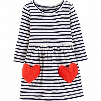 Carter's Striped Heart Jersey Dress