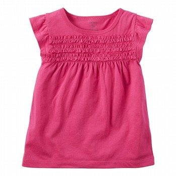 Carter's Smocked Flutter-Sleeve Tee