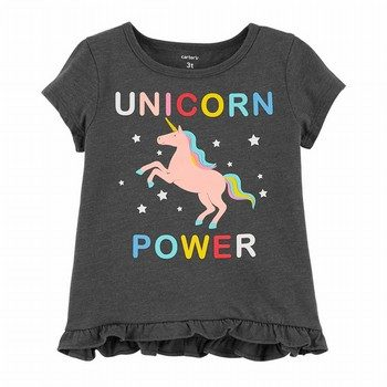Carter's Unicorn Power Hi-Lo Ruffle Tee