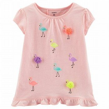 Carter's Flamingo Tulip Back Slub Tee