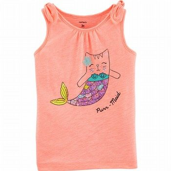 Carter's Cat Mermaid Jersey Tank
