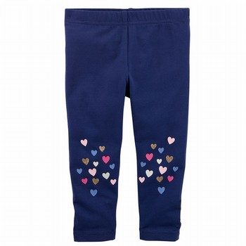 Carter's Glitter Heart Capri Leggings