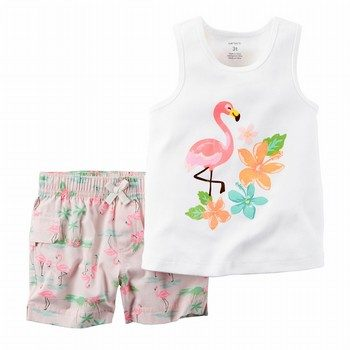 Carter's 2PC Flamingo Tank & Short Set