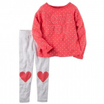 Carter's 2PC Heart Top & Legging Set
