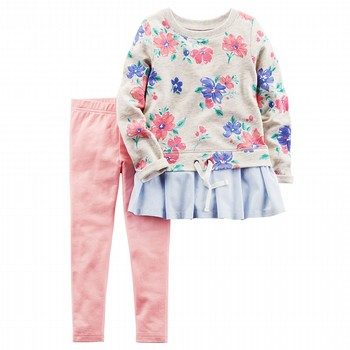 Carter's 2PC French Terry Top & Legging Set