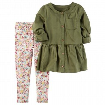 Carter's 2PC Peplum Tunic & Legging Set