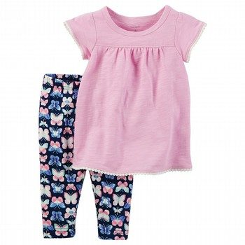 Carter's 2PC Flutter-Sleeve Tee & Legging Set