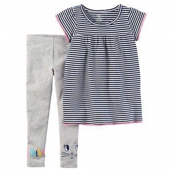 Carter's 2PC Striped Tunic & Legging Set