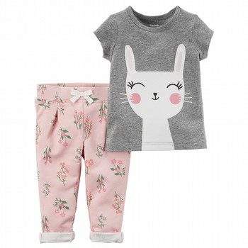 Carter's 2PC Bunny Tee & French Terry Pant Set
