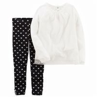 Carter's 2PC Tulle Top & Heart Legging Set