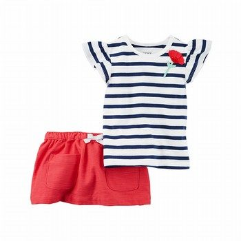 Carter's 2PC Flutter Tee & Skort Set