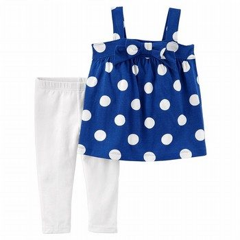 Carter's 2PC Polka Dot Tank & Jersey Legging Set