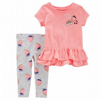 Carter's 2PC Berry Top & Legging Set