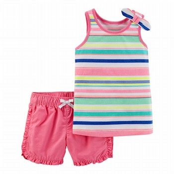 Carter's 2PC Striped Tank & Twill Short Set