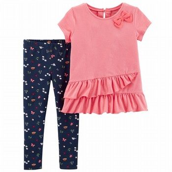 Carter's 2PC Ruffle Top & Floral Legging Set
