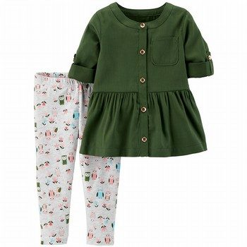 Carter's 2PC Sateen Top & Legging Set