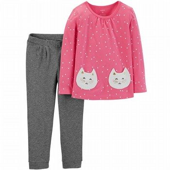 Carter's 2PC Kitten Top & Legging Set