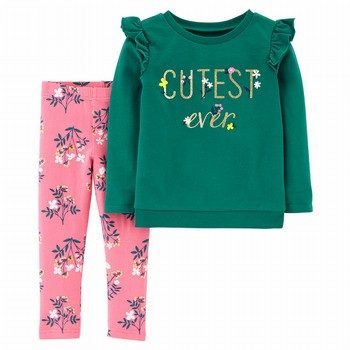 Carter's 2PC Top & Floral Legging Set