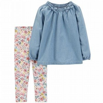 Carter's 2PC Woven top & Legging Set