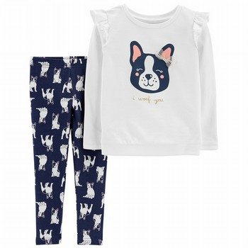 Carter's 2PC French Bulldog Sweatshirt & Legging Set