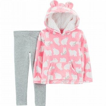 Carter's 2PC Polar Bear Fleece Hoodie & Legging Set