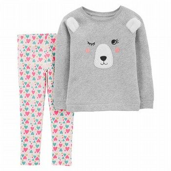 Carter's 2PC Bear Fleece Top & Legging Set